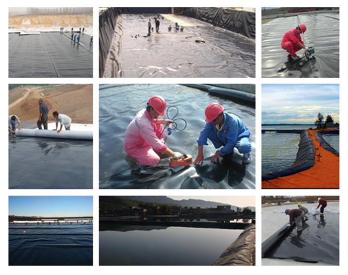 2.0mm एचडीपीई geomembrane तालाब लाइनर मछली की खेती के लिए