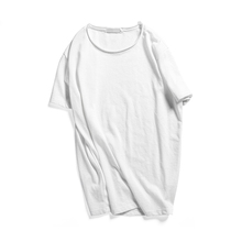 Round neck blank t-shirt with short sleeve for men t-shirt manufacture available logo design