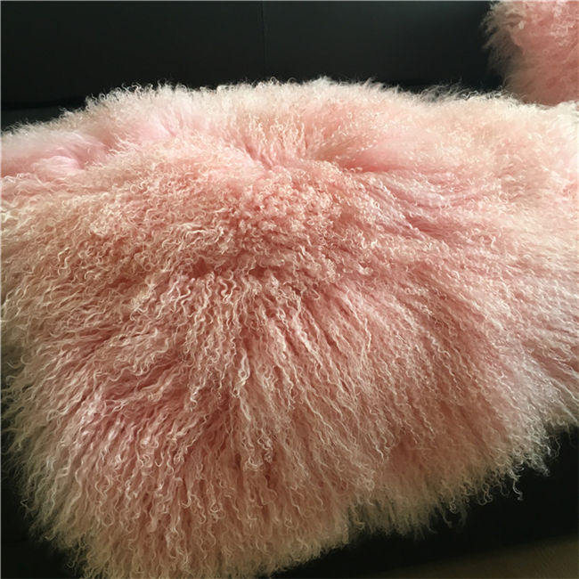 Factory direct supply genuine curly mongolian tibet fur rug