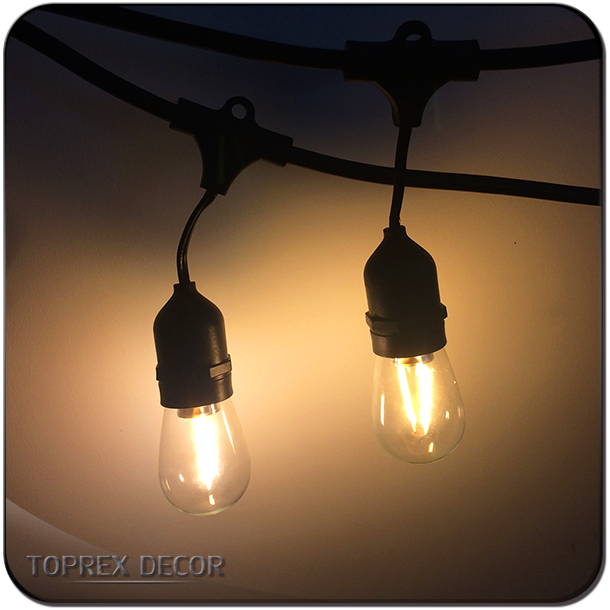 Heavy duty string lights outdoor festoon lighting with s14 g45 bulbs heavy duty string lights outdoor festoon lighting with s14 g45 bulbs aloadofball Gallery