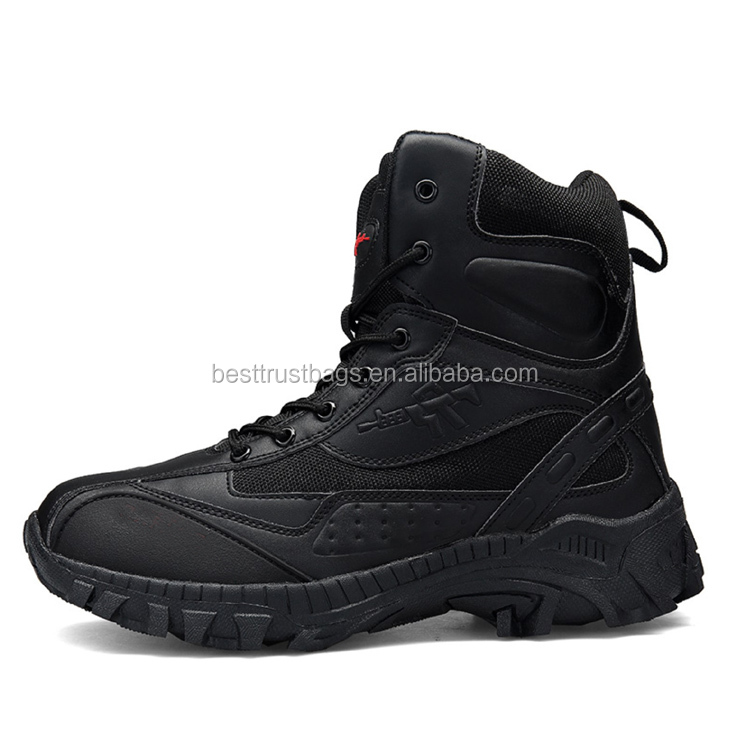 Outdoor Gear Tactical Equipment Military Boots Khaki Black Color Tactical Combat Boots For Man