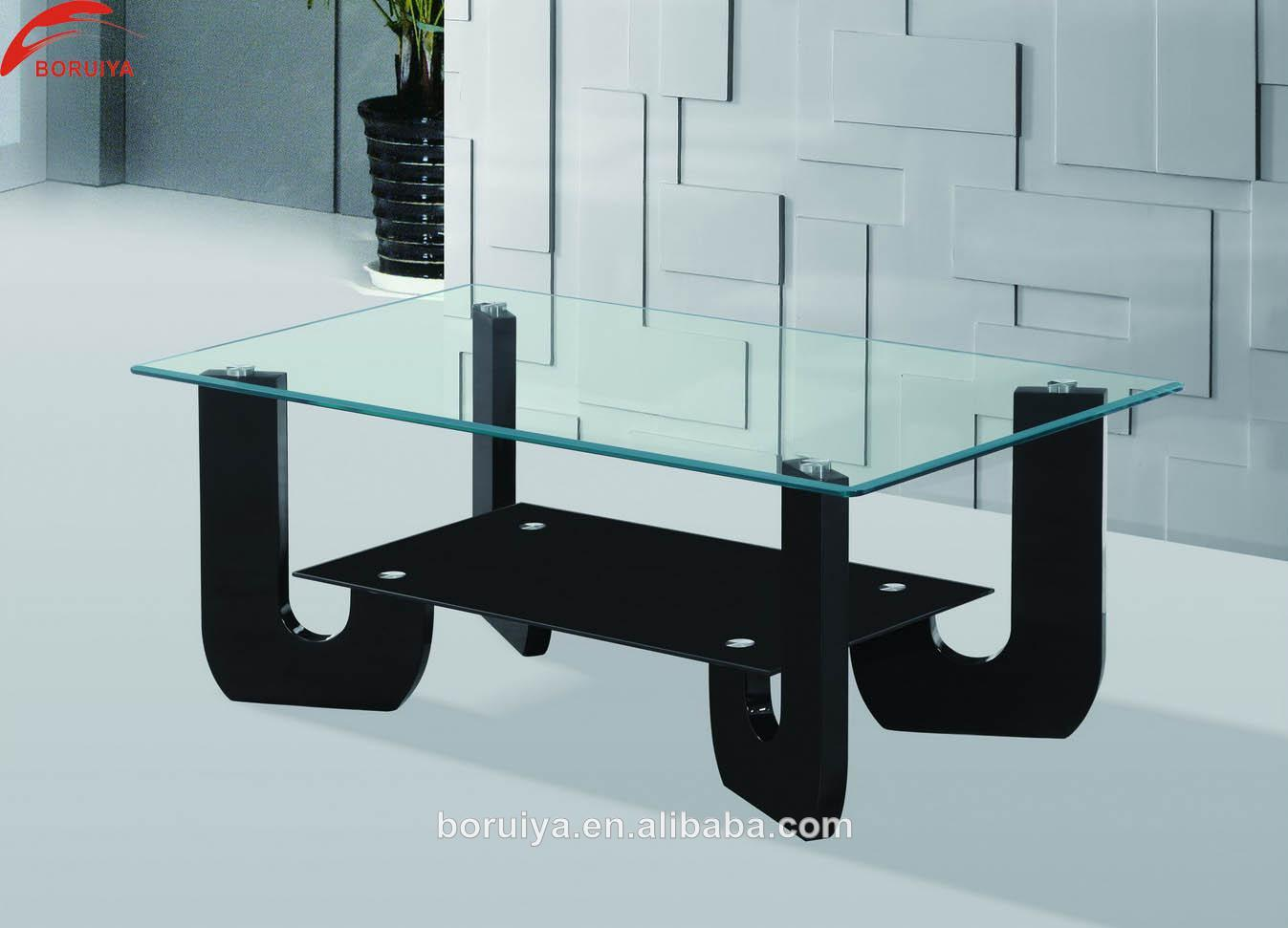 Black glass centre table designs for living room furniture for Table design glass