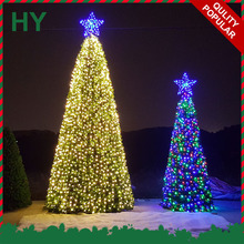 Top quality 20ft 30ft 40ft 50ft giant outdoor lighting large christmas tree