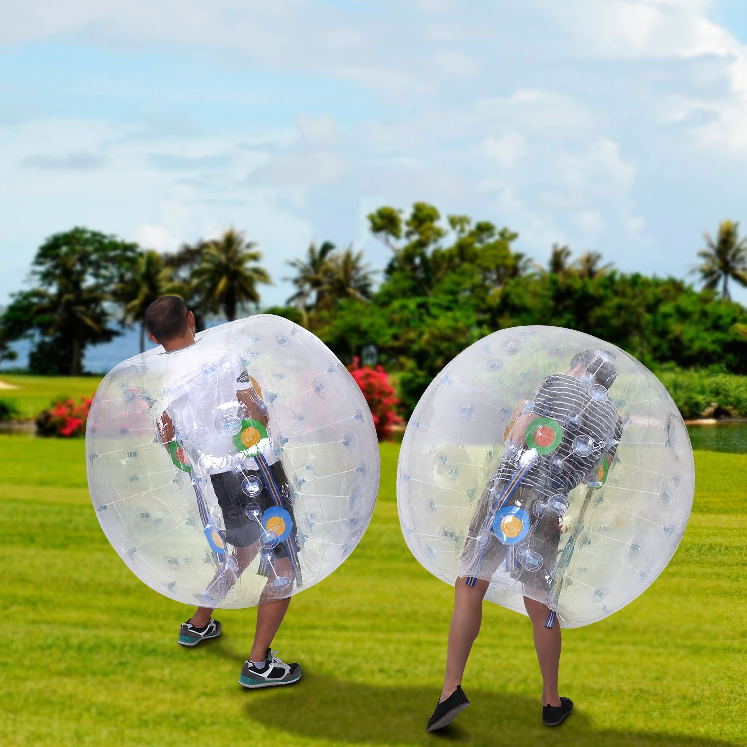 Inflatable Bumper Ball 1.2M 4FT/1.5M 5FT Diameter Bubble Soccer Ball Blow Up Toy, Inflatable Bumper Bubble Balls for Childs,teens,adults