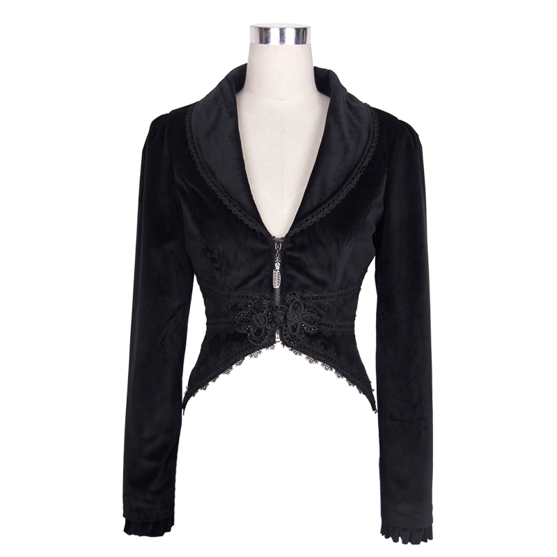 CT019 brand palace women gothic jackets lace swallow-tailed coat
