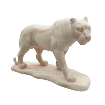 Hand Carving Stone Garden Products Marble Lion Statue