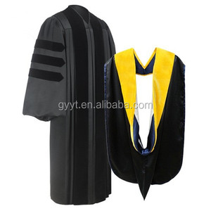 China manufacture wholesale unisex Doctoral Graduation Dressing Gown