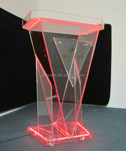 SourceOne Modern Clear Acrylic Podium Lectern (Traditional)