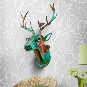 Hanging Christmas Decorations Diy.Beautiful Home Decoration Diy Christmas Decorations Wall Hanging Artificial Wooden Deer Head Buy Deer Head Beautiful Home Decoration Diy Christmas