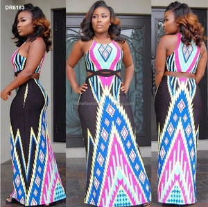 female hot sexy african traditional printed dress