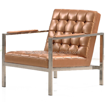 Modern Living Room Chairs Stainless Steel Armchair Simple Leisure