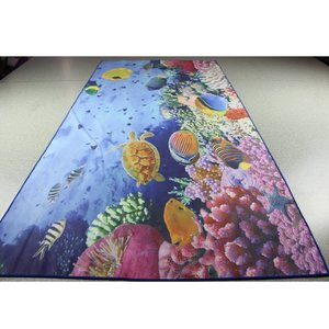 2018 sublimation Printed 80 polyester 20 nylon micro fiber beach microfiber printed towel