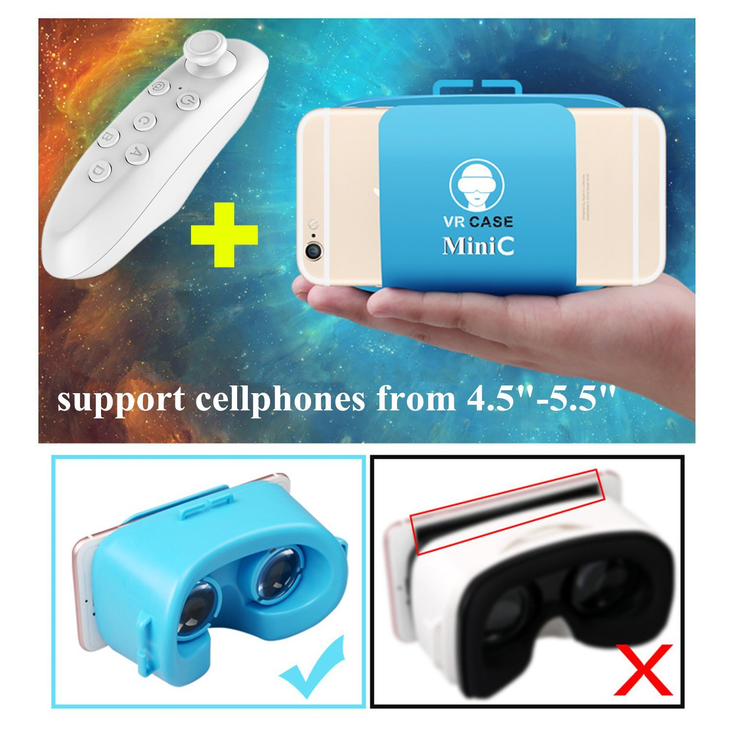 Cheap Vr Box Remote Find Deals On Line At Alibabacom Plus Bluetooth Get Quotations Mini Headset Tsanglight 3d Glasses Compact Version