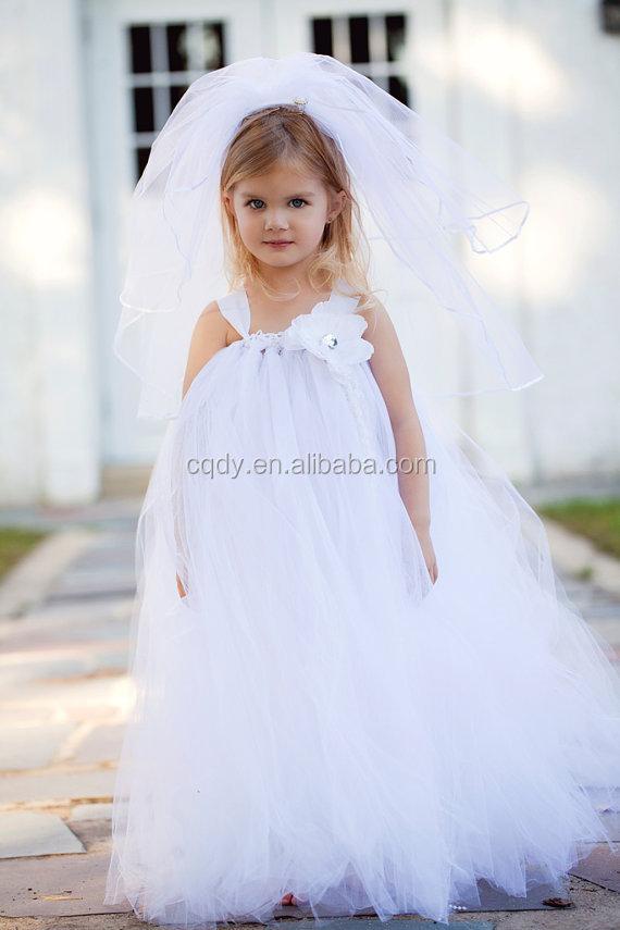 2014 Bunga Putih Gadis Cantik Untuk Pernikahan Gadis Gaun Anak Gaun