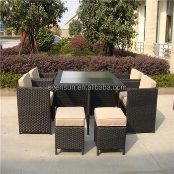 Outdoor Bar Set Rattan Furniture