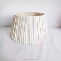 cone white pleated table lamp shades for living room decoration
