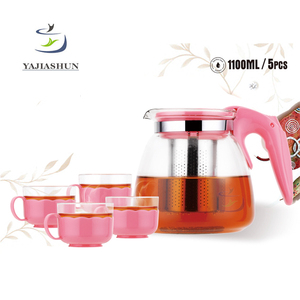 900ml Korean Borosilicate Pyrex Glass Teapot Glass Tea Set Glass Pot With Stainless Steel Infuser