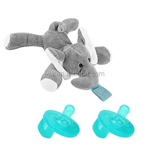 Hot Sell Plush Animal Toy Baby Newborn Pacifier Orthodontic Nipples