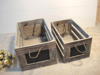 Custom Antique Wooden Milk Crates Vintage Wood Bottle Crates Rustic Style Buy Wooden Storage Boxwholesale Wooden Boxeswooden Box Product On