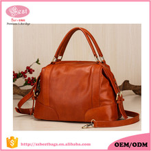 Hot Selling Handmade Craftsmanship Pure Leather Women Tote Bag Handbags
