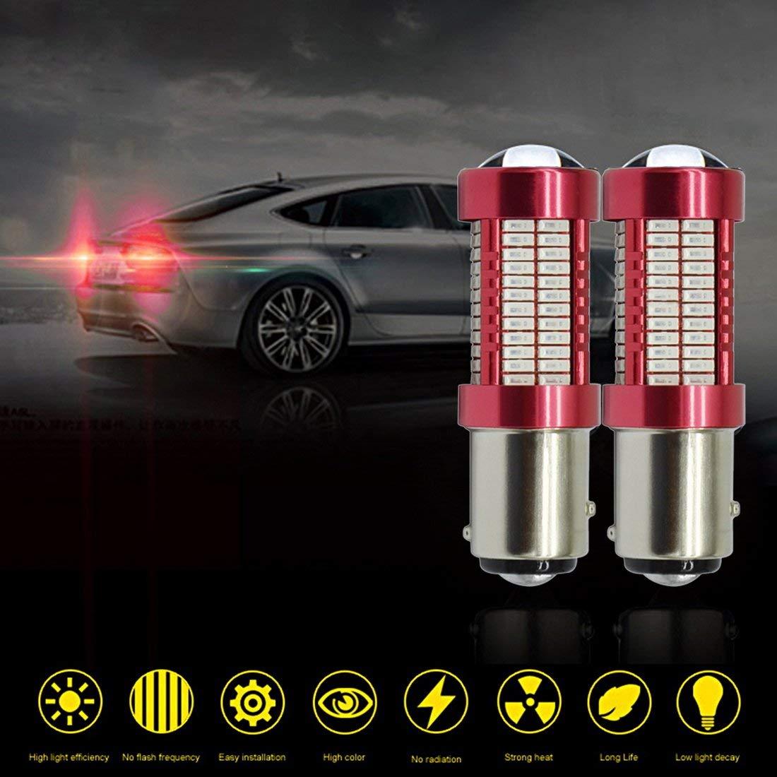Get Quotations · Set of 2 Bulbs,1157 LED Bulb Red 9V - 30V (4W 460 Lumens
