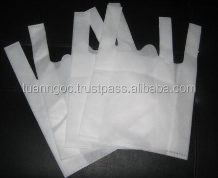 White t-shirt bag safe for food, fruit/ HDPE T-shirt bag export to Europe/ Singapore/ Australia