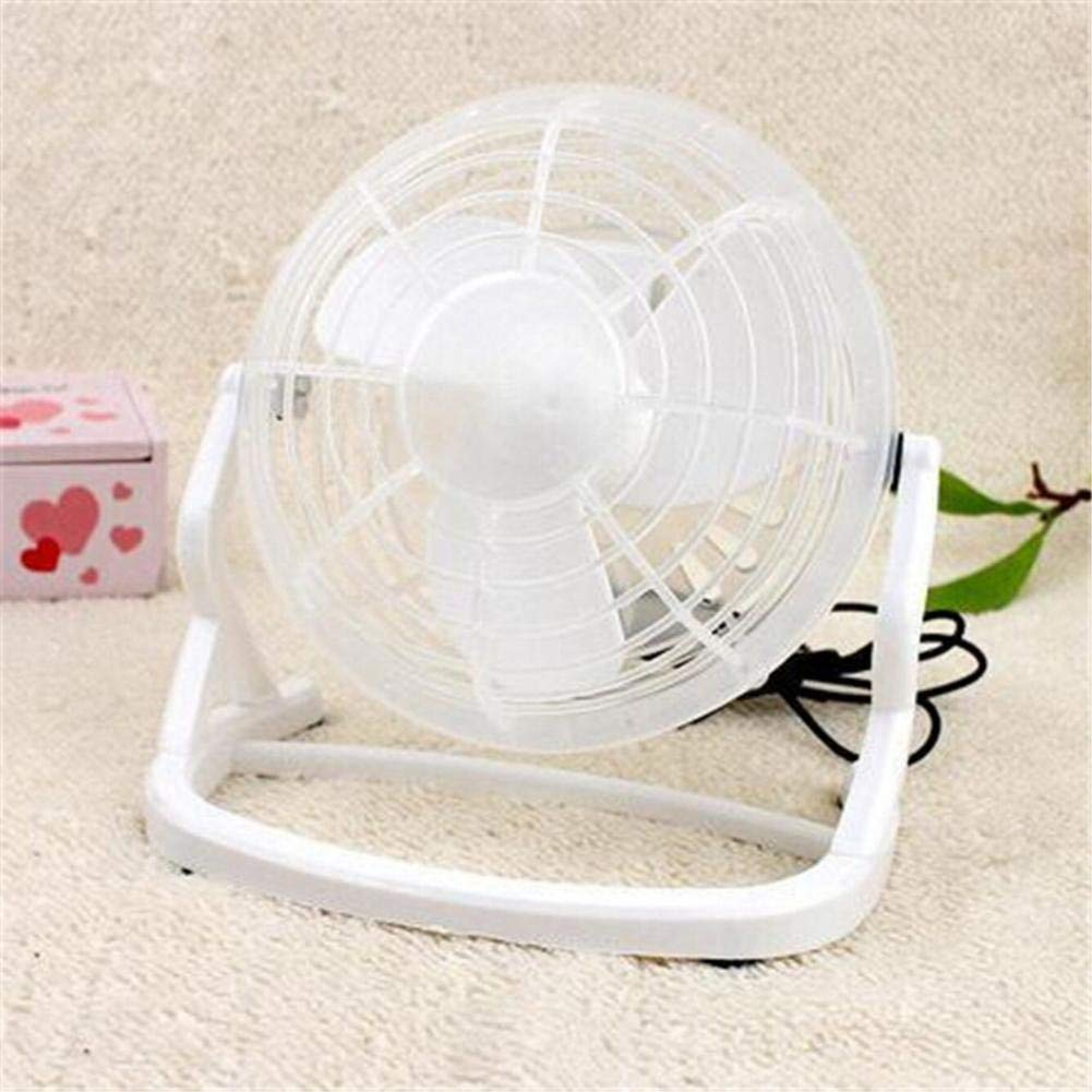 Prom-Near USB Mini Fan Table Desk Personal Fan Office Quiet Desk Personal Fan 4 inch Desktop Personal Cooling Fan for Office, Living Room, Bedroom, White, Black, Pink, Green