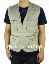Pánska outdoorová vesta s postrannými vreckami z Aliexpress