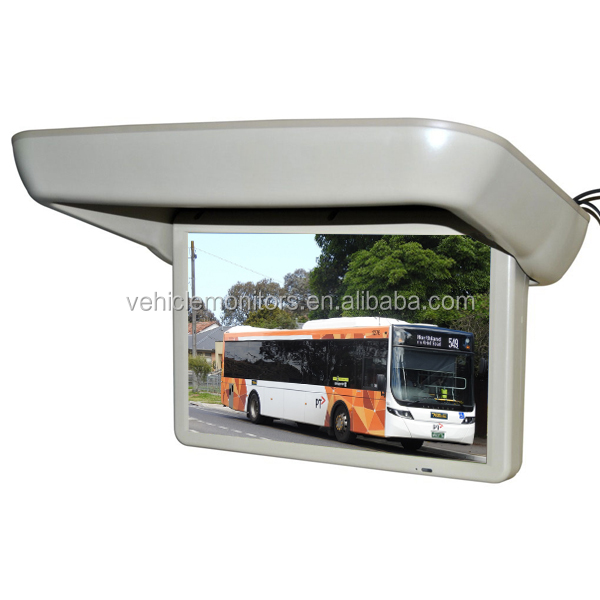19 inch motorized roof mount/ flip-down monitor for car entertainment system