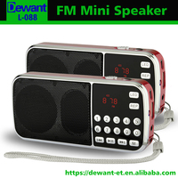 Factory selling L-088 manual portable mini speaker with fm radio