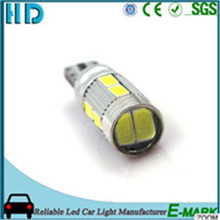 2017 hot saling T10 10SMD White canbus led day light car