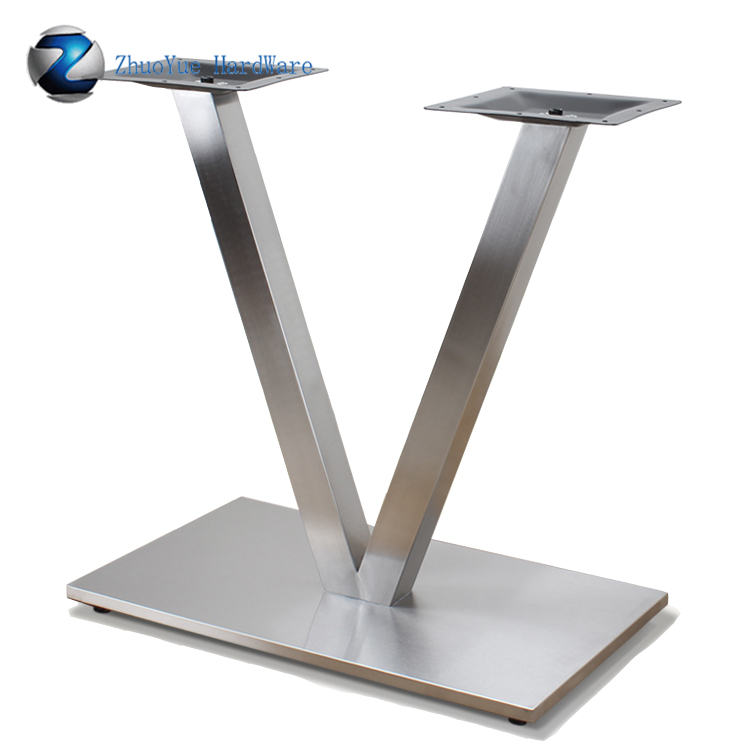 China Manufacture Brushed V Shape Stainless Steel Dining
