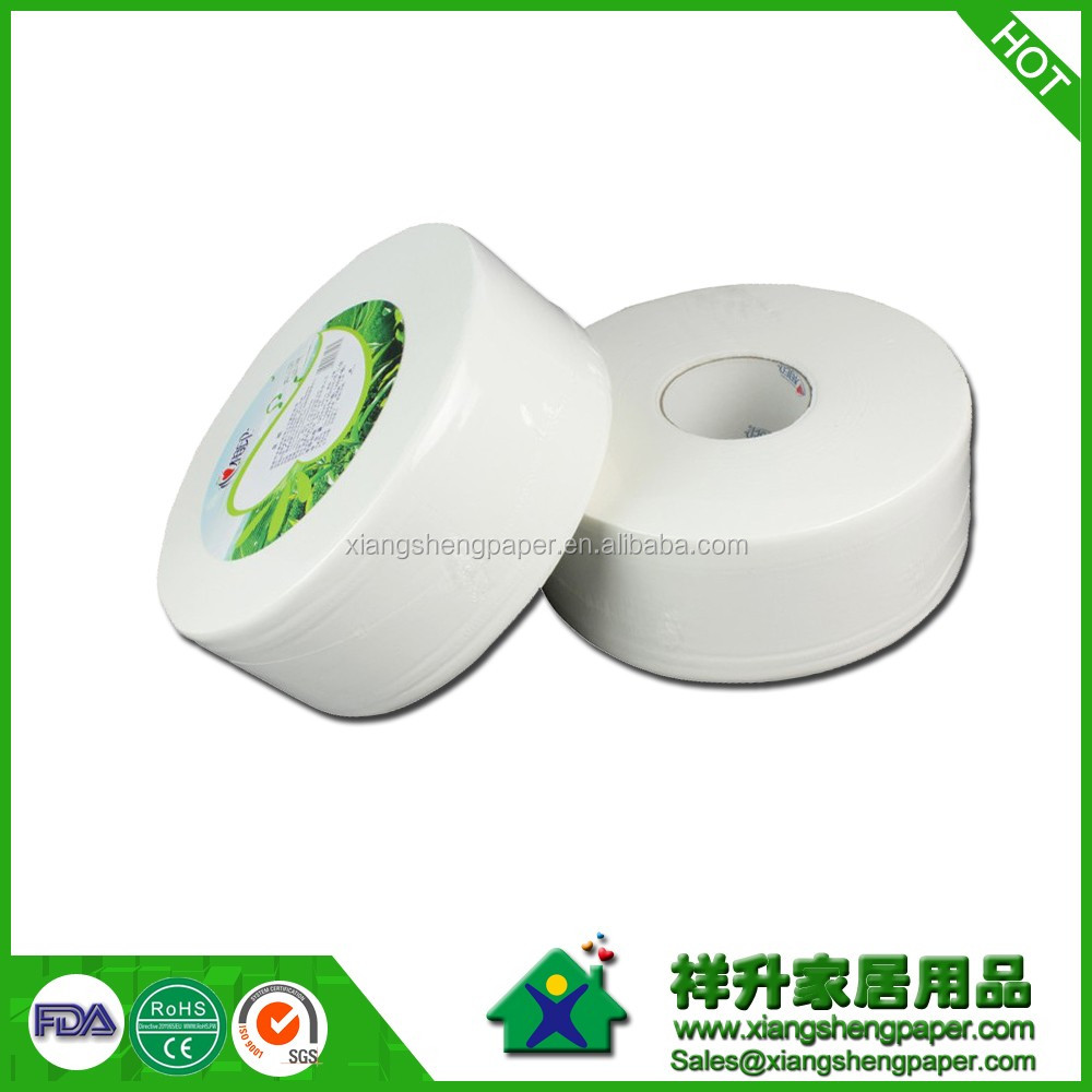 Soyou virgin wood pulp 1ply custom printed roll paper towel jumbo roll paper towel toilet paper High Quality Jumbo Roll Tissue