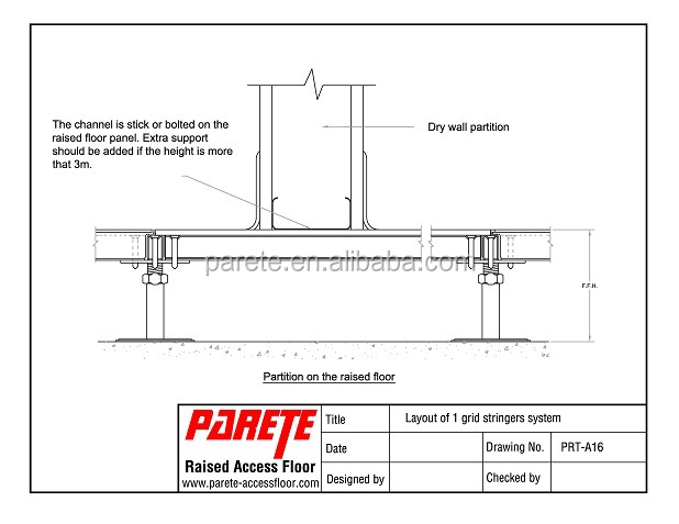 Parete Raised Access Floor Detailed Drawing Buy Raised
