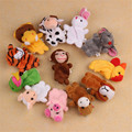 Children 12 pcs Cute Animal Hand Puppet Toys Classic Children Hand Puppet Novelty Cute Dog Monkey