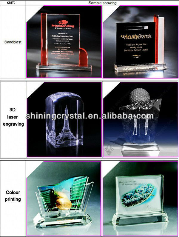 Crystal glass Obelisk paperweight with bubble inside for home decoration