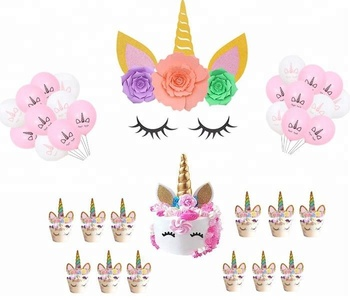 Unicorn Party Decorations Backdrop Baby Shower Birthday Party Flower