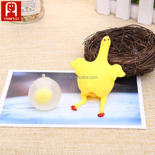 factory price creative tricky toys small rubber chicken for children