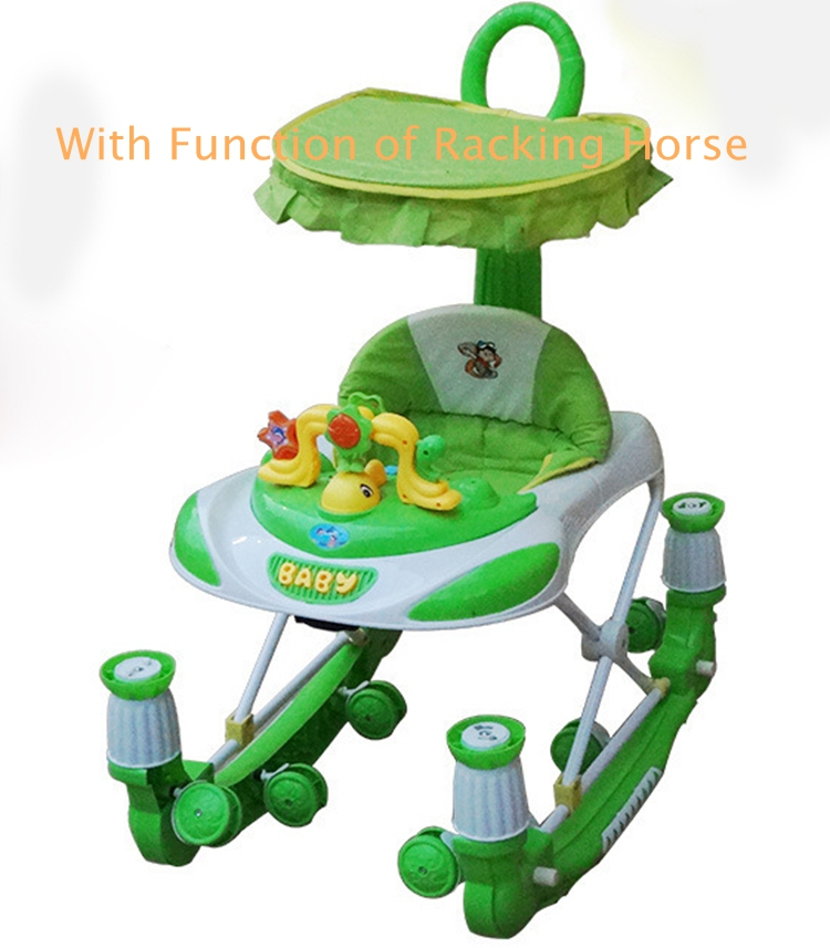 Hot Sale 8 Wheels Educational Indoor Baby Walker with Game-function