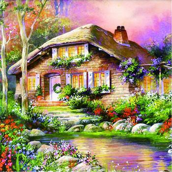 Güzel Ev Boyama Duvar Dekorasyon Diy Elmas Boyama Manzara Buy Ev