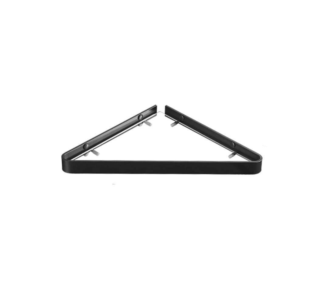Glass Corner Shelf, Space Aluminum Wall Mounted Shower Caddy, 8 Mm Tempered Glass, Single Tier Corner Bath Rack, Storage Shelf Basket for Office, Bathroom and Kitchen, Approx. 39302.5cm