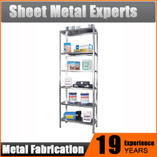 Metal steel rivet lock Goods Shelf 5 Tier freestanding shelving unit