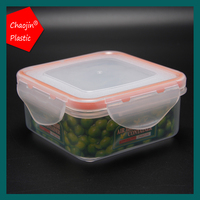 Airtight HOME square plastic food lunch box case storage container