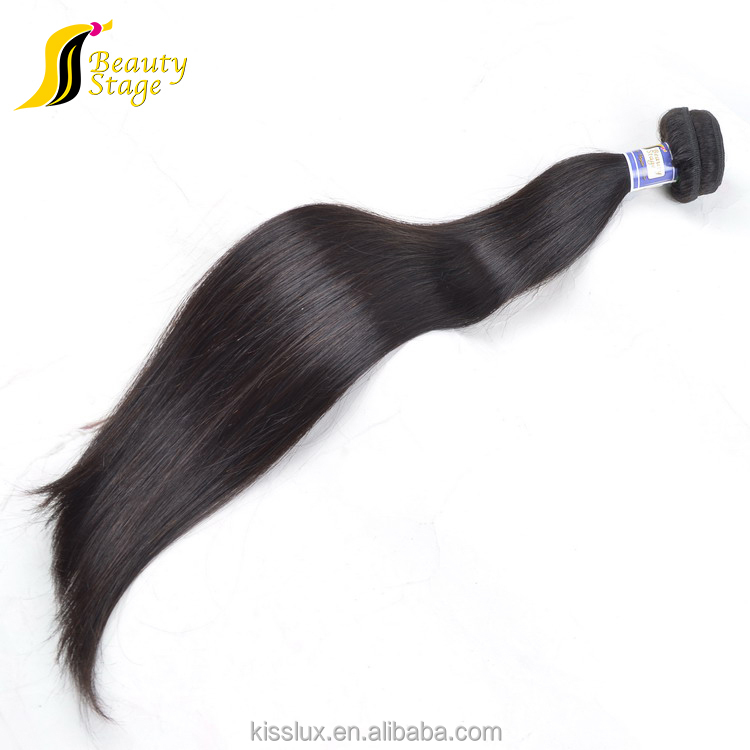 Strong weft 34 inch straight hair weave,shedding free egypt human hair extension,micro beads weft hair extensions