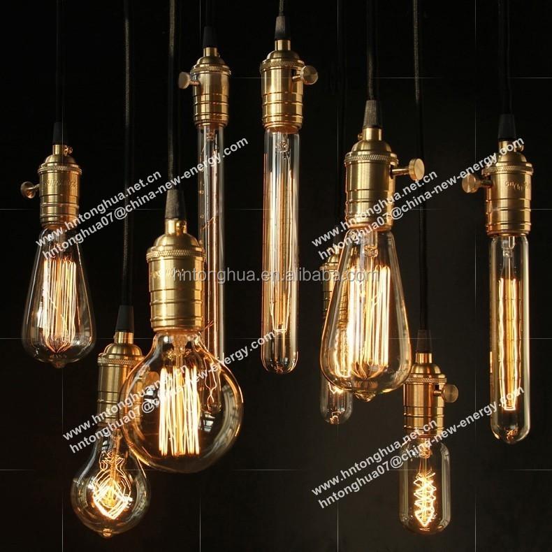 Antique Vintage Edison Bulb Carbon Filament Light Bulb St64,St58 ...