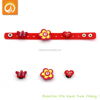 Personalized DIY Shoe Buckle Adjustable Silicone Shoes Wristband