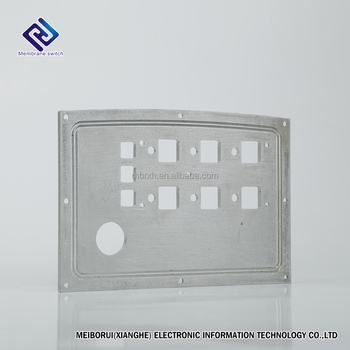 Custom High Quality Aluminum Panel Using for Assembling Membrane Switch Printed by Dongyuan