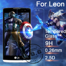 0.26mm Explosion Proof Anti scratch Tempered Glass Film For LG Leon H324 H340 C50 C40 Screen Protector Film + cloth
