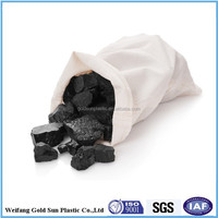 moisture proof white coated pp woven coal bag