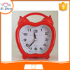 2017Bosheng: (8237) Newly Apple shape transparent clock decorative plastic desk clock